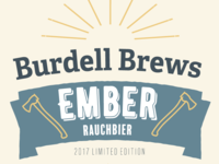 Burdell Brews Beer Bottle Label