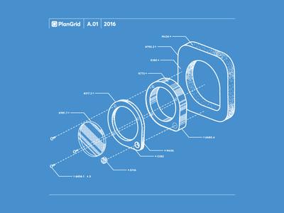 Exploded view loupe