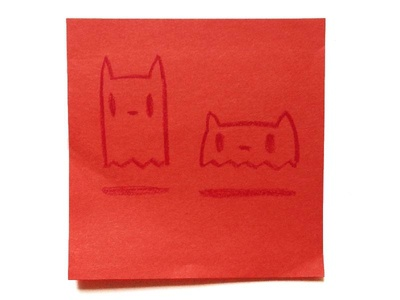 Ghost Cats spooky sketch ghosts cats ghost