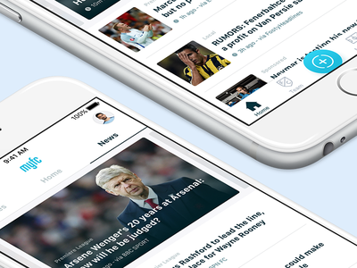 News 📰 blue apple ux read soccer football ui iphone ios news