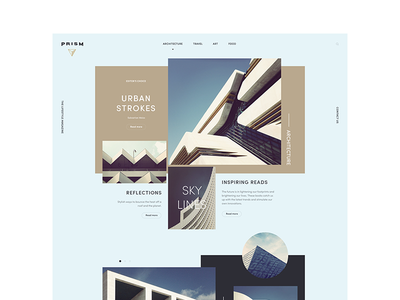 Prism — Demo Website for Adobe Dreamweaver 2016 🖥 prism grid bauhaus homepage 2016 dreamweaver website demo adobe
