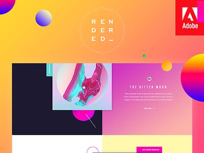 Rendered — Digital Arts Awards by Adobe website official homepage gallery dreamweaver digital awards arts adobe