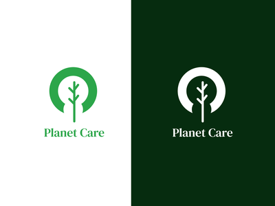 Planet Care Logo Design flat icon ui ux product minimal logodesign logo brand identity design branding logotype