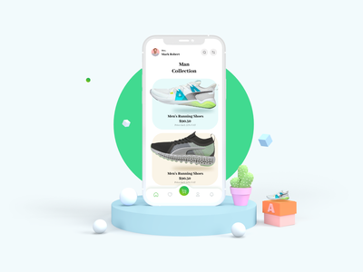 eCommerce Shoes App minimal product ui ux mobile ecommerce shoes app brand identity