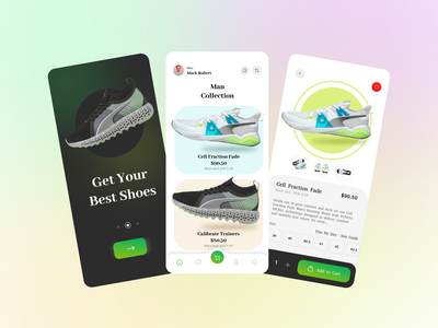 eCommerce Shoes App Design ecommerce app shoes app minimal product ui ux design brand identity mobile ecommerce