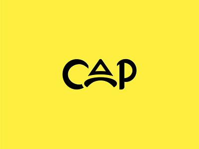 Cap logo design shopping style fashion yellow creative logo professional minimalist illustraion illustrator icon branding design typography flat lettering minimal vector logo