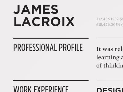 Responsive Résumé Site
