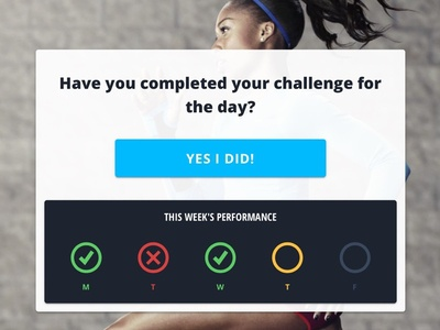 Daily Check In check in application product design