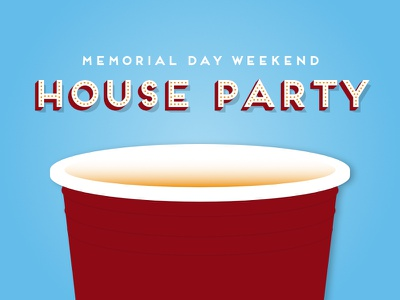 House Party party solo cup illustration
