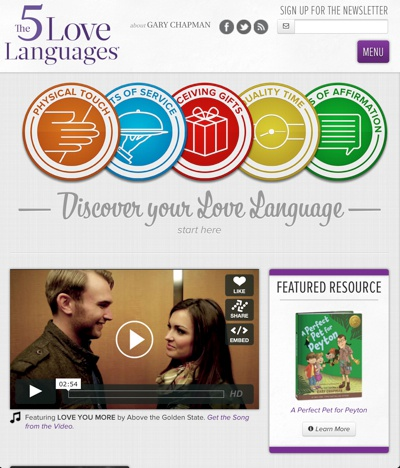 Home  v2.0    the 5 love languages  dribble 2