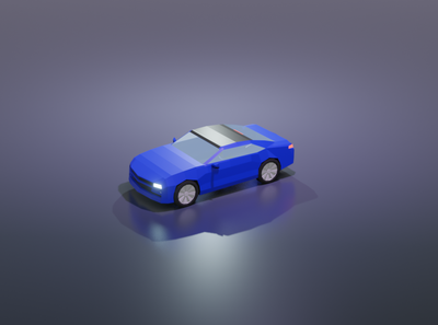Low poly car low poly car blender3d illustration