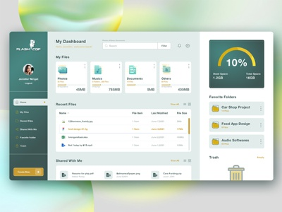 ( FLASHCOP ) File Manager Dashboard Design vector creative design adobe illustrator adobe photoshop design graphic design logo interface illustration filemanager dashboard app