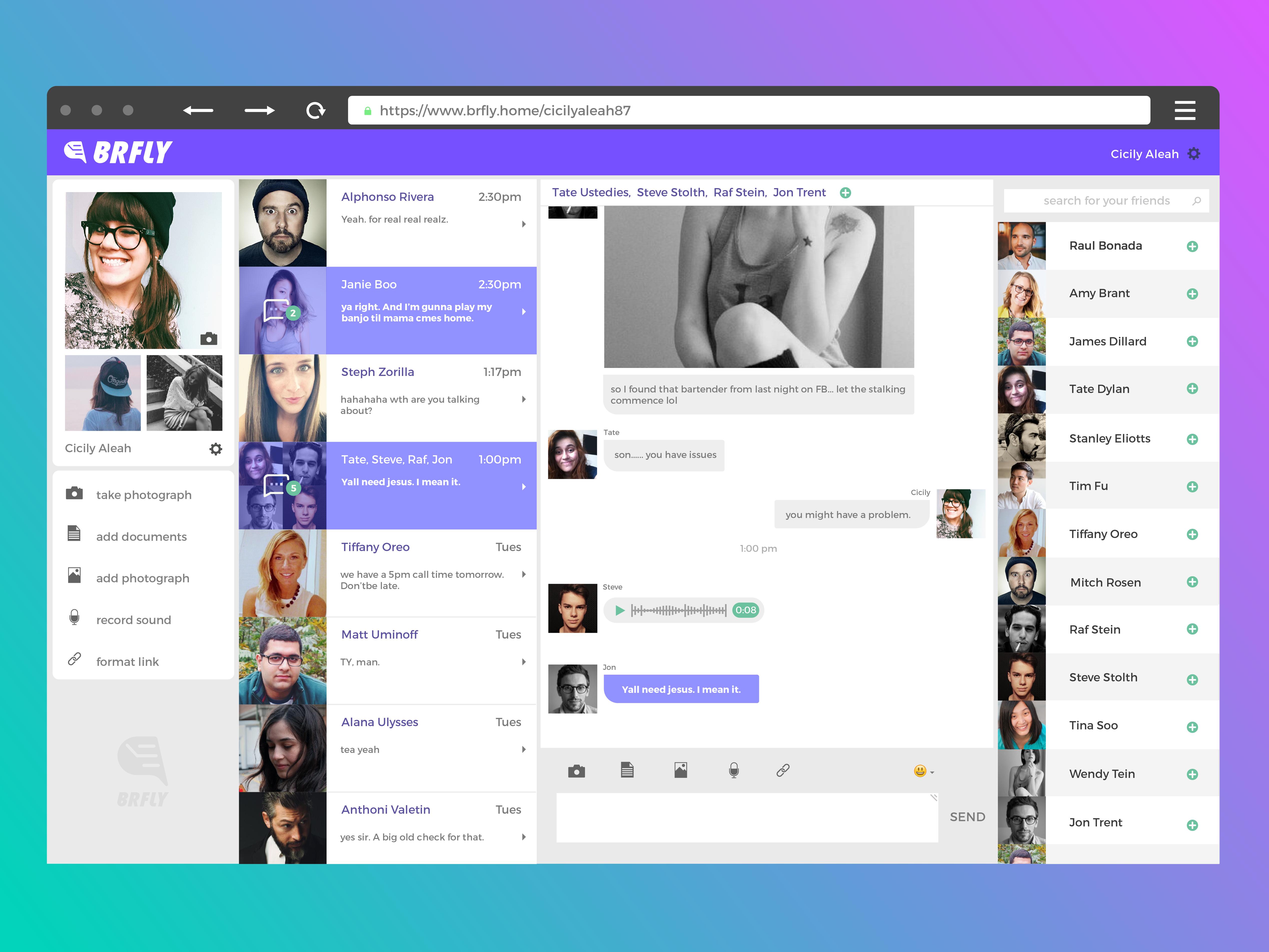 Brfly desktop
