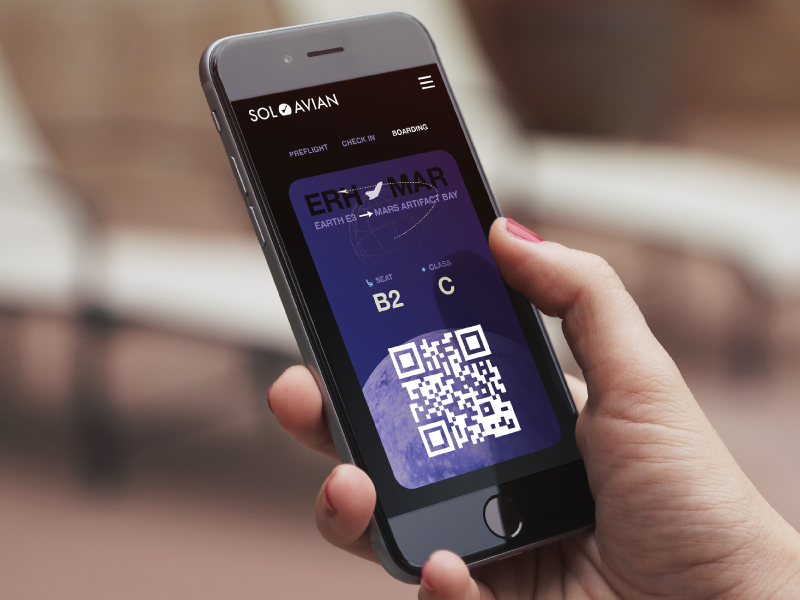 Boarding pass mobile mockup small