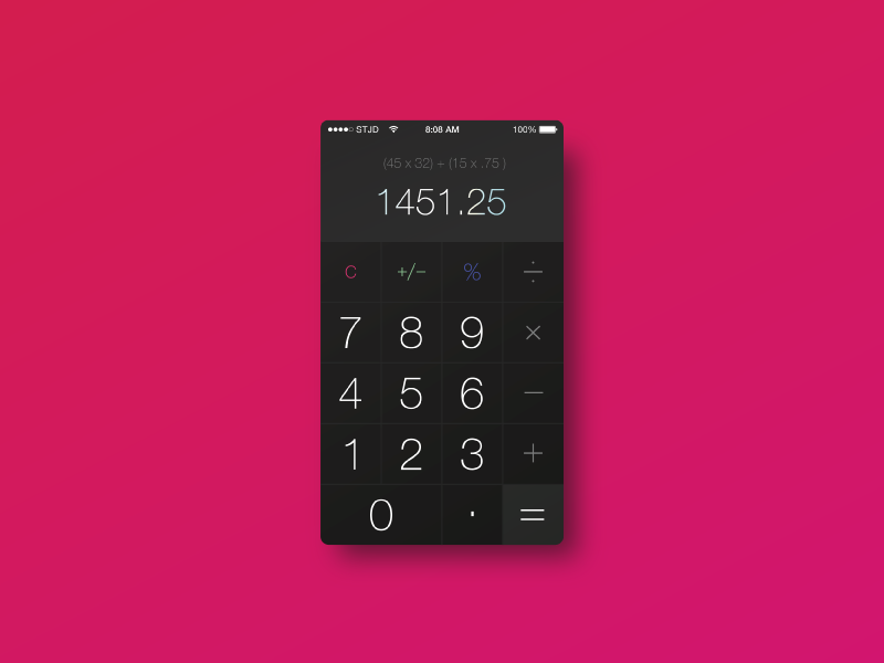 Calculator flat mockup small