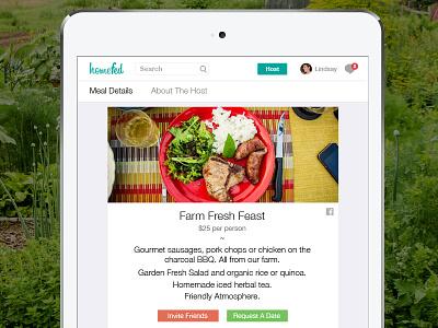 Homefed Meal Details ipad food sharing homefed