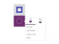 Palette knob assignment menu