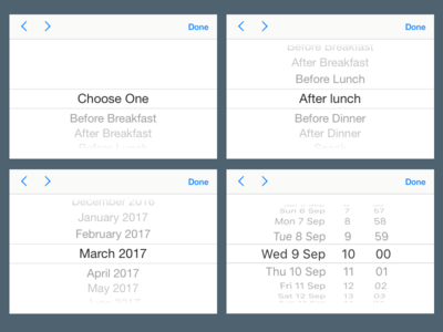 iOS 11 Pickers For Sketch with Overrides