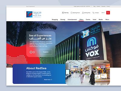 The Red Sea Mall website design saudi arabia saudi avm red sea mall mall jeddah ksa arab design website ui