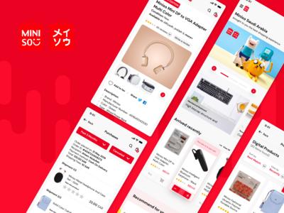 MINISO KSA Mobile App Design