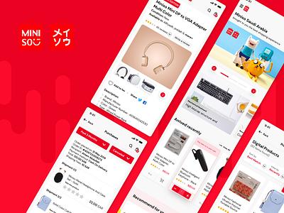 MINISO KSA Mobile App Design mobile ecommerce dubai gulf arabic saudi ksa android app ios design ux ui miniso