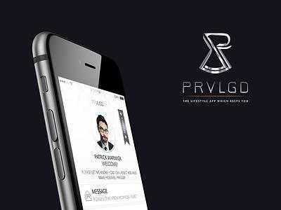 PRVLGD Mobile APP prvlgd mobile ios iphone iphone6plus iphone6 mockup free dubai lifestyle application ui