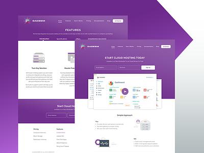 Sadeem.io ux ui design web hosting arabia saudi dubai arab ksa sadeem