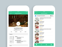 Restaurant Mobile App (Restaurant screen & List view)