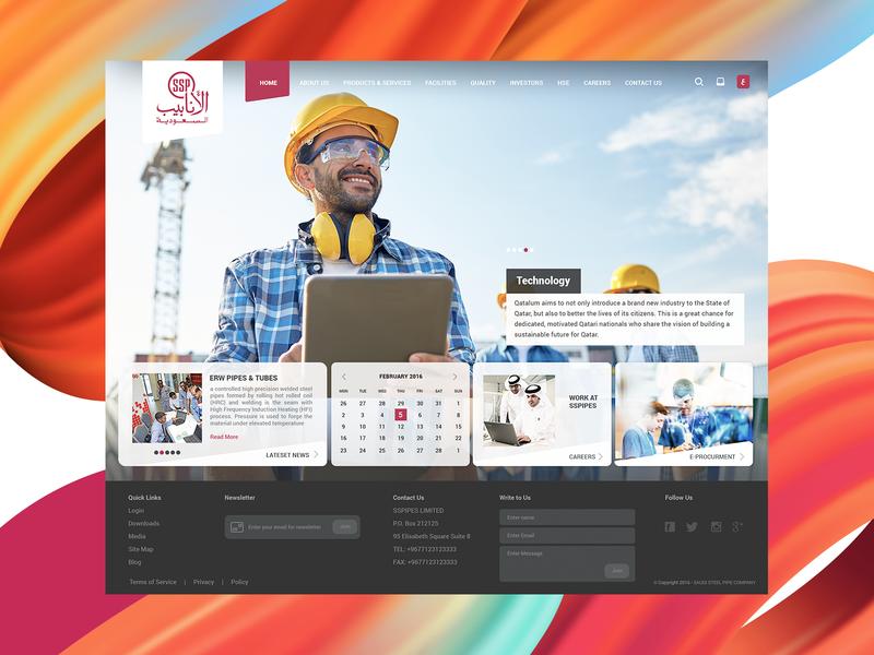 Saudi Steel Pipe Company website by Ayman Shaltoni on Dribbble