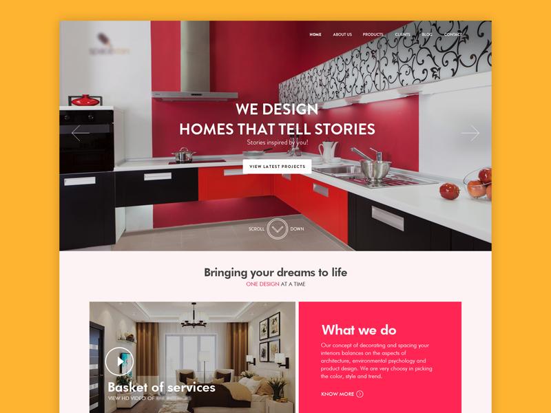 Interior Design Company Website By Vishal Jerome On Dribbble