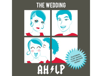 The Wedding Album album cover illustration invitation wedding