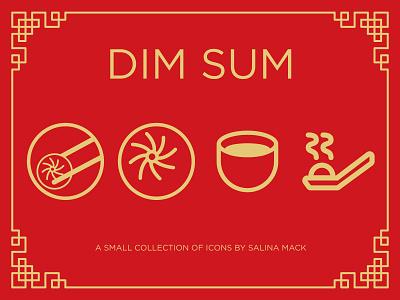 Dim Sum Icon Set (the beginning) sum dim dimsum food icons
