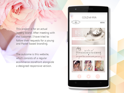 eCommerce Jewelry Website website ecommerce ux ui jewelry design responsive store wordpress woocommerce clean design rwd