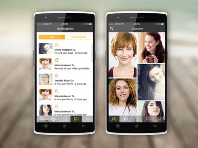Vidback - Early Concept video messaging app application chat ios android