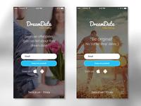 DreamDate landing page