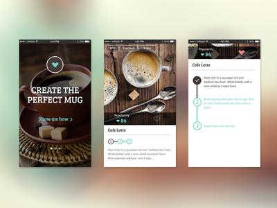 Coffee Break tags welcome guide coffee mobile app ui ux