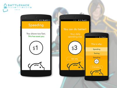 Savr App hackathon battlehack paypal driving mobile app ui ux