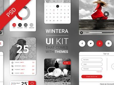 Free UI Starter Kit – Wintera theme