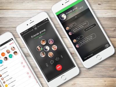 Meucci App contacts chat app dialer group calling
