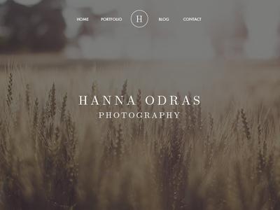 Hanna Odras Website Redesign redesign design web design ui ux landing page