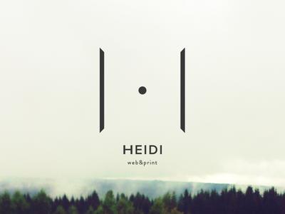 Heidi heidi branding logo
