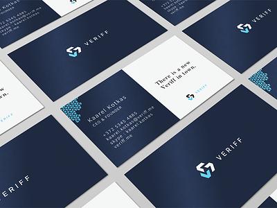 Veriff business card business card cvi branding logo verification identity veriff