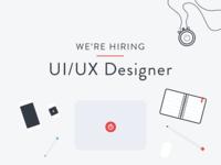 We're hiring! UI/UX Designer