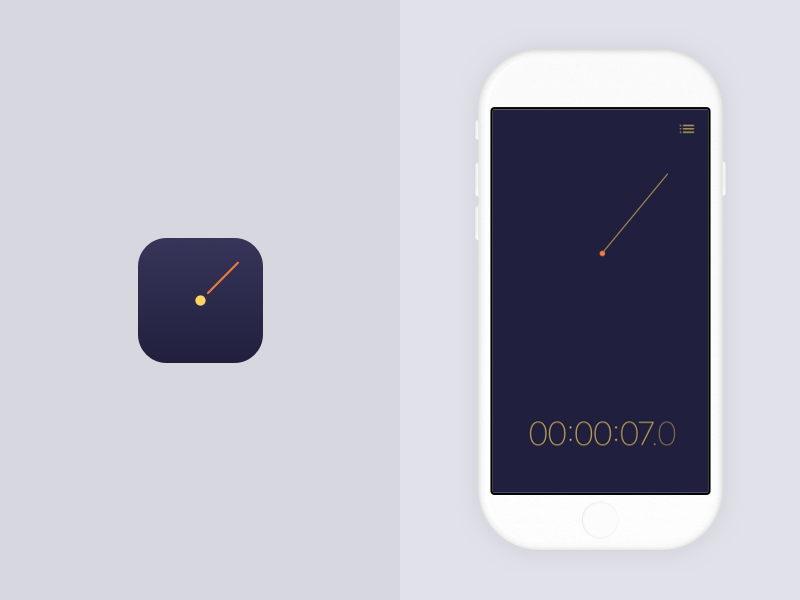 Stopwatch app ux ui mobile app iphone ios