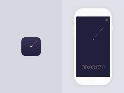 Stopwatch app ux ui mobile app iphone ios