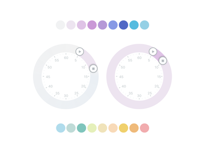 Rainbow Wheel | Time picker for mobile app time picker colours design mobile ios toggl ux ui