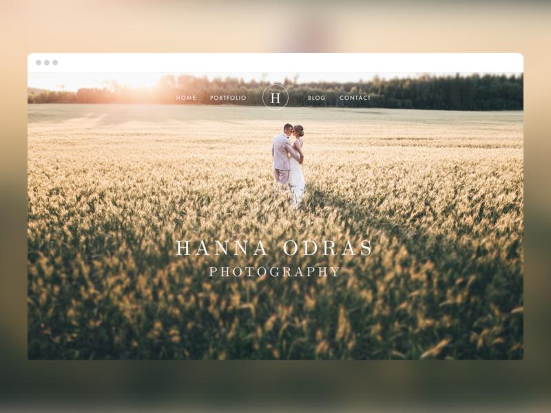 Hanna Odras Photography | Website portfolio photography website web design ui
