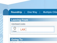Boarding pass Search widget redesign