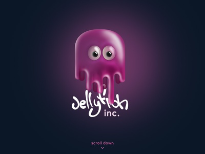 Daily UI #003 - Landing page ui landing landingpage jellyfish dailyui