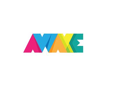 Awake shadow visual letters colorful awake logo